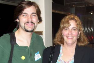 "Me and my political organizing ""boss."" We did lots of good work together for the 2008 presidential election."